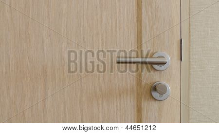 Stainless Steel Handle On Door