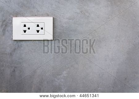 White Outlet Cement Wall
