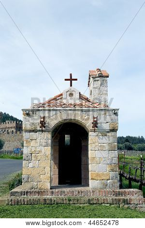 The Chapel at Castello di Amorosa Winery in Napa Valley