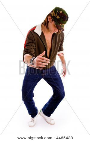 Front View Of Man Dancing