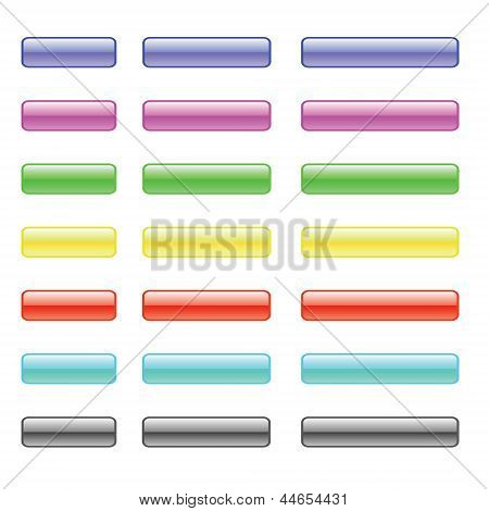 Set Of Colorful Glass Buttons
