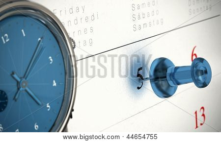 Pünktlichkeit zeitlich Konzept