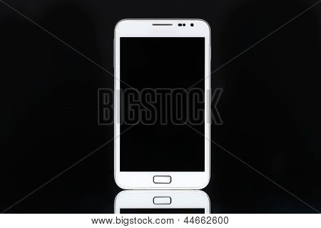 White smart phone tablet