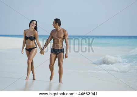 Couple enjoying on the beach