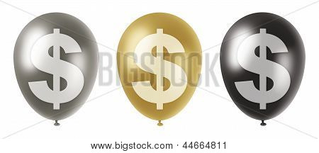 Dollar Balloons Set