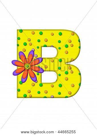 Alphabet Zany Dots B