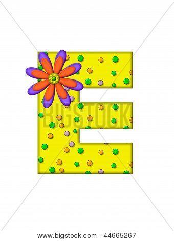 Alphabet Zany Dots E