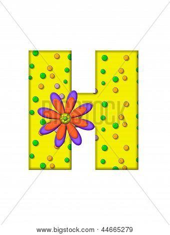 Alphabet Zany Dots H