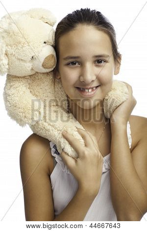 Smiling Girl With Toy