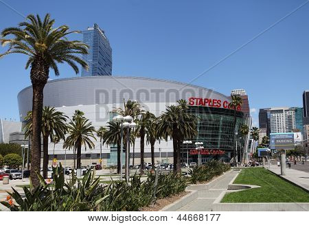Das Staples Center in Downtown Los Angeles