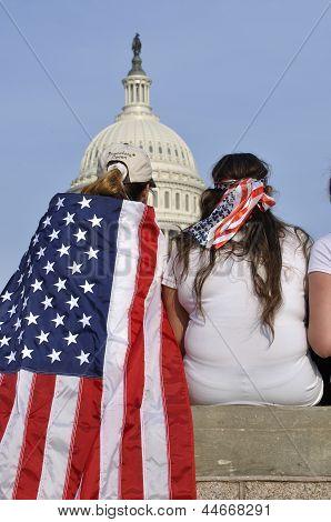 Washington D.c. - April 10, 2013: Demonstrators Show T