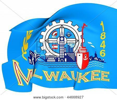 Flagge von Milwaukee, Usa.