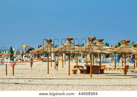 Reed Umbrellas Beach