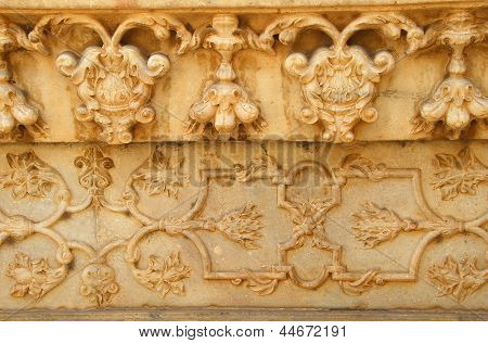 Marble Carving Of Taj Mahal Agra India