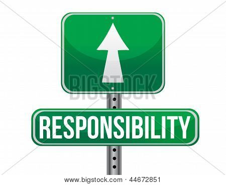 Responsibility Road Sign Illustration Design