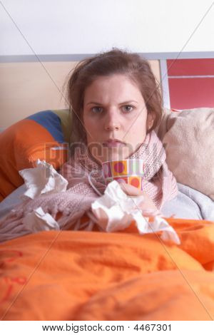 Young Ill Woman