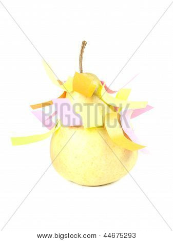 Fruit Composition Of Pears And Self-adhesive Paper