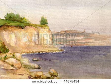 Volga At Coast Kamyshin