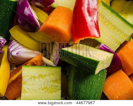 Freshly Chopped Vegetables