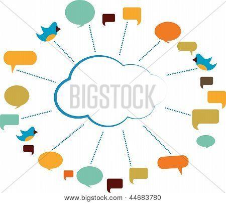 Communication Cloud With Speech Bubbles