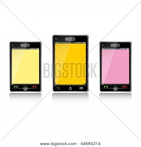 Three smartphones