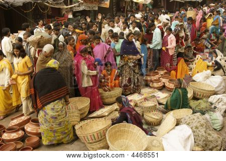 Busy Indian Market