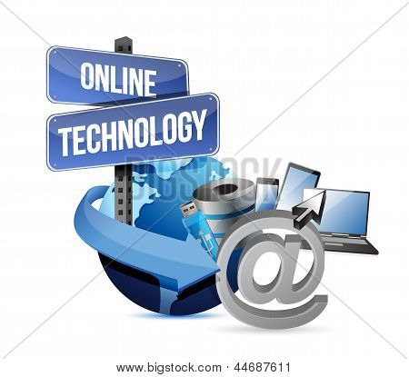 Media Technology Concept Illustration Design