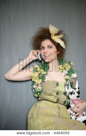 Modern Fashion Original Woman Talking Phone