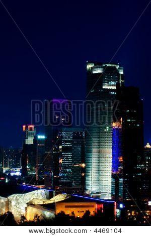 Night View Of Cbd, Shenzhen