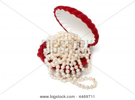 Pearl Beads In Red Box