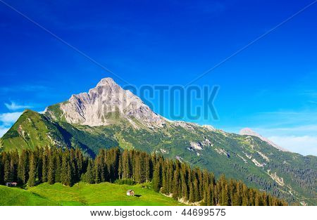 Alps mountains and sky summer landscape