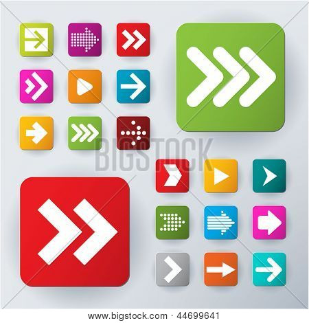 Pijl icon set. Vector.