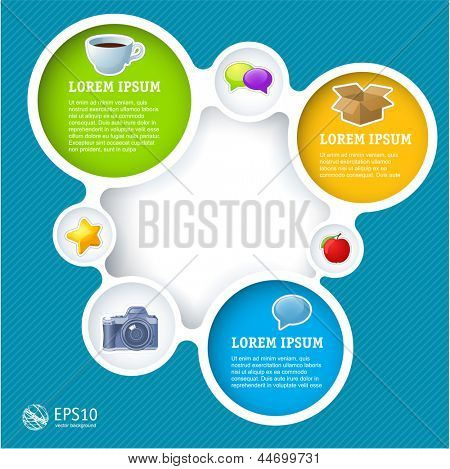 Website infographic loop template, Vector design frame.