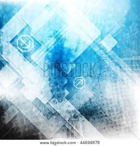 Grunge hi-tech abstract design. Vector background eps 10