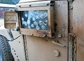 picture of humvee  - Improvised Explosive Device detonation on US Humvee in Afghanistan - JPG