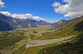 image of hookers  - Hooker Valley on the South Island of New Zealand - JPG