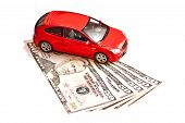 stock photo of plastic money  - Car and money - JPG