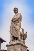 stock photo of alighieri  - Statue of Dante Alighieri in Santa Croce - JPG