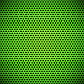 stock photo of titanium  - Green technology background with seamless grill speaker texture  - JPG