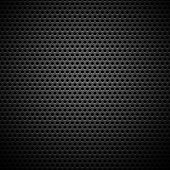 stock photo of titanium  - Technology background with seamless circle perforated carbon speaker grill texture for internet sites - JPG