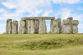 stock photo of stonehenge  - View of the mysterious Stonehenge in UK - JPG