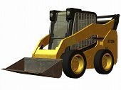 picture of skid-steer  - 3D Render of an Skid Steer Loader - JPG