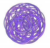 Abstract Round Glossy Torus Shape In Mixed Purple On White