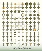 image of maltese-cross  - Collection of 120 isolated classic crosses. 