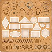 image of dispatch  - Blank borders and grunge rubber stamps vector - JPG