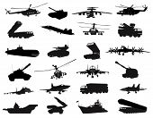 image of car carrier  - Detailed weapon silhouettes set - JPG