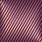 Diagonal Lilas And Golden Striped Background poster