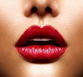 stock photo of violet  - Sexy Lips - JPG