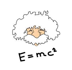 picture of einstein  - very big size albert einstein illustration with the relativity formula - JPG