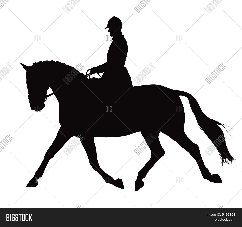 English horse silhouette